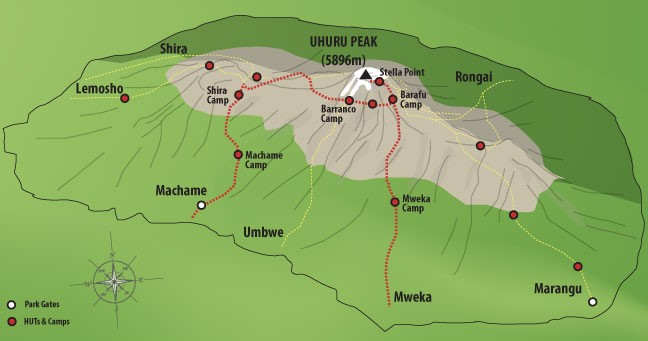 6 Days Machame Route Climbing Kilimajaro