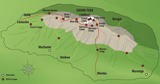 7 Days Shira route Climbing Mount Kilimanjaro